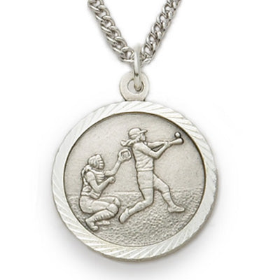 St. Christopher Nickel Silver Softball Medal