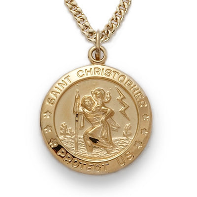 Round St. Christopher Medal
