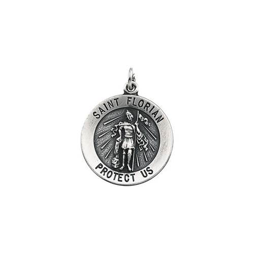 St. Florian Round Sterling Silver Medal