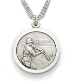 St. Christopher Baseball Sterling Silver Medal