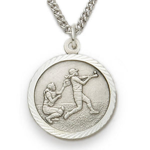 St. Christopher Softball Sterling Silver Medal