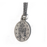 Silver First Communion Miraculous Medal