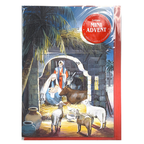 Nativity Advent Calendar Card