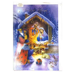 Christmas Blessings Advent Calendar Card