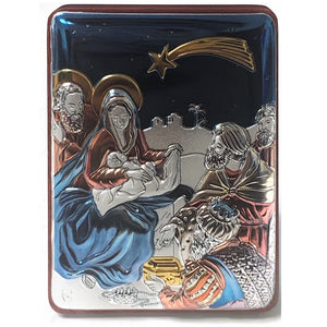 Colored Nativity Plaque