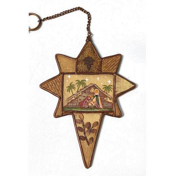 Nativity Star Ornament