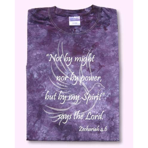 Not By Might Tie-Dyed T-Shirt