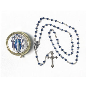 Our Lady of Grace Rosary with Case