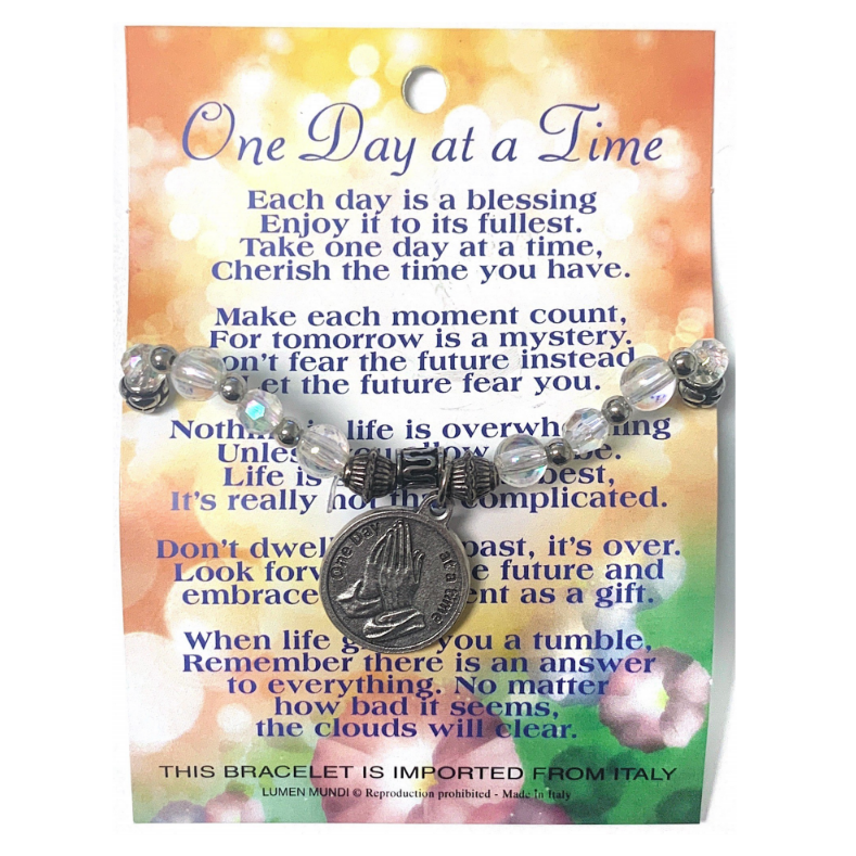 One Day at a Time Card & Bracelet – The Catholic Gift Store