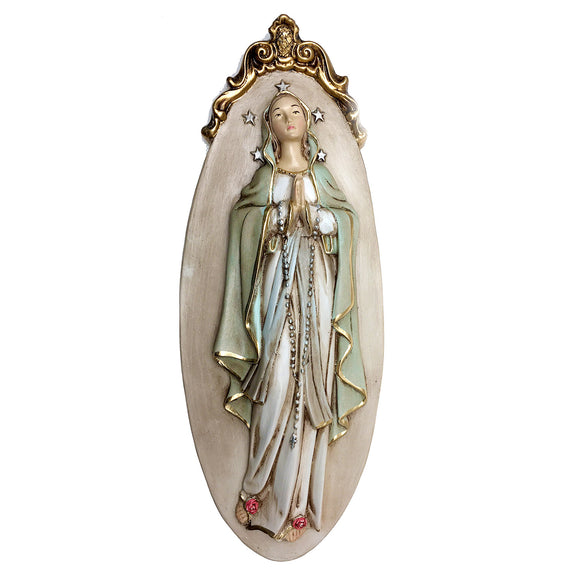 Our Lady of Lourdes Wall Plaque