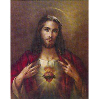 Sacred Heart of Jesus Carded 8