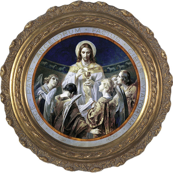 Bread of Angels Print in an Ornate Frame