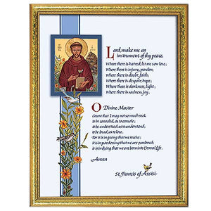 image relating to St Francis Prayer Printable identified as Prayer of St. Francis Framed Print