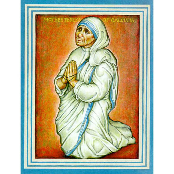 Mother Teresa Icon on Wood