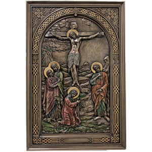 Bronze Crucifixion Plaque