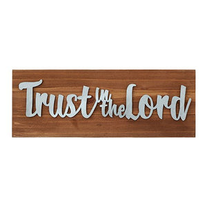 Trust in the Lord Wood Tabletop Plaque