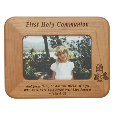 First Communion Wood Frame