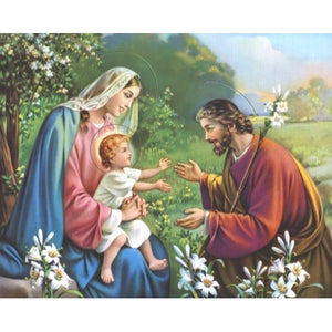Holy Family 8x10 Carded Print