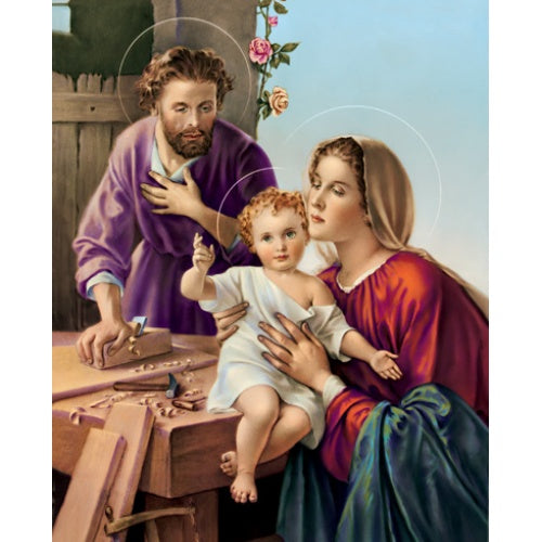 Holy Family & St. Joseph the Carpenter 8x10 Carded Print