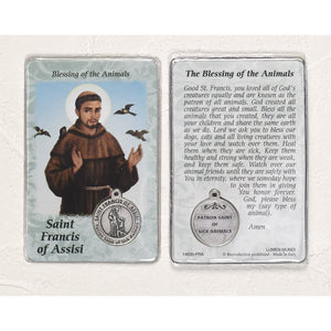 St. Francis Healing Prayercard with Medal