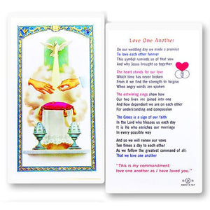 Love One Another Marriage Holy Card