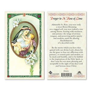 Prayer to St Rose Of Lima - English