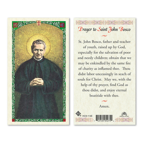 Prayer to St John Bosco - English