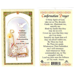 Confirmation Prayer Card
