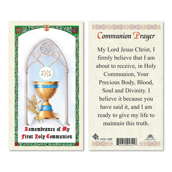 Chalice First Communion Prayercard