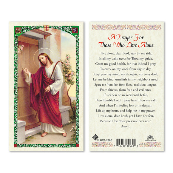 Jesus Knocking - For Those Who Live Alone Prayercard