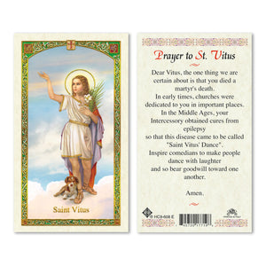 Prayer to Saint Vitus Prayercard