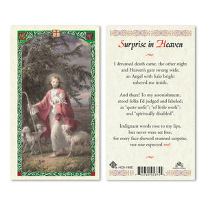 Surprise in Heaven Prayercard