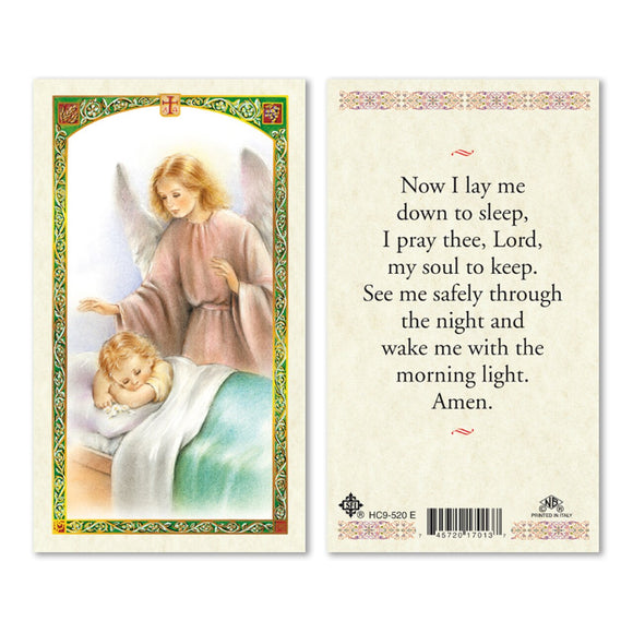 Now I Lay Me Down to Sleep Prayercard