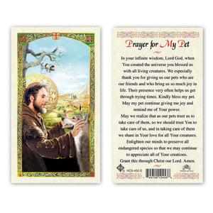 St Francis - Prayer for My Pet