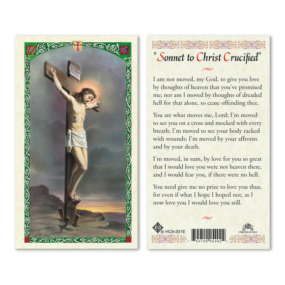 Sonnet to Christ Crucified