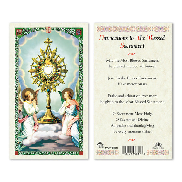 Invocations to the Blessed Sacrament