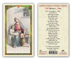 An Offering to Mary Prayercard