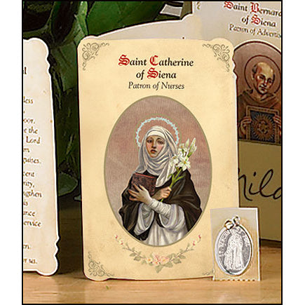 St. Catherine of Siena (Nurses) Patron Saint Medal Holy Card