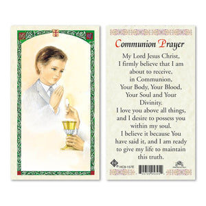 First Communion Boy Prayer Card