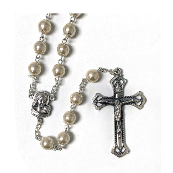 White Pearl Rosary