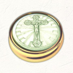 Crucifix Pyx with No Liner