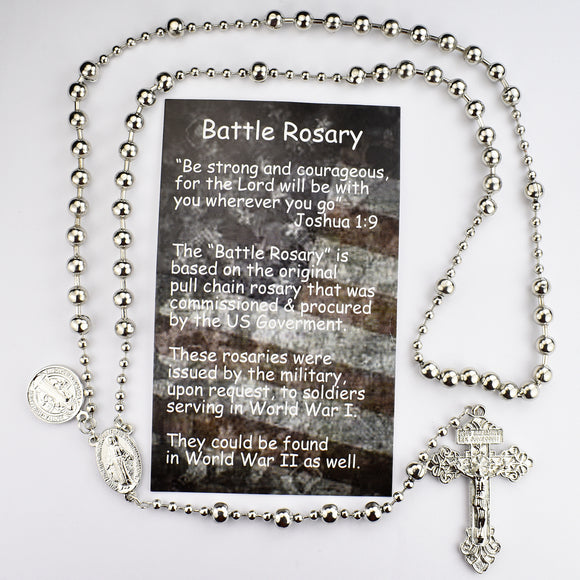 Silver Battle Rosary