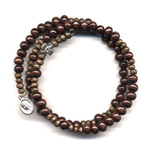 Wrap Rosary - Dark Brown Beads
