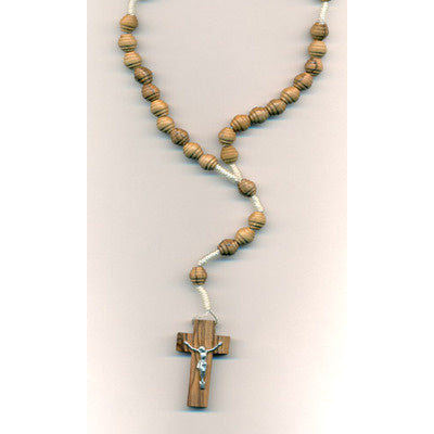 Spiral Bead Olive Wood Rosary