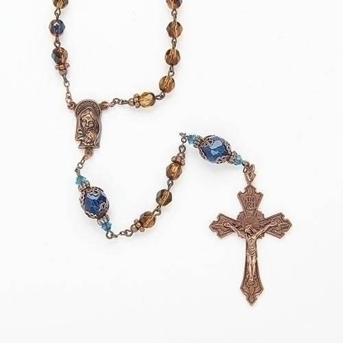 Byzantine Rosary Amber Beads & Gold and Ivory Box