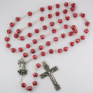 Red Divine Mercy Rosary