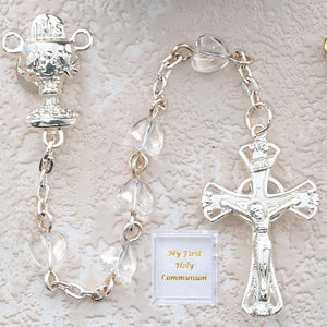 Crystal Heart Communion Rosary