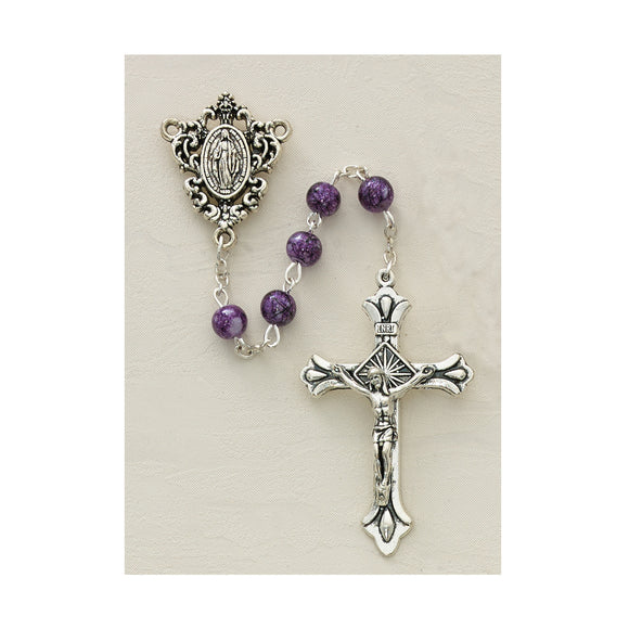 Purple Speckle Rosary