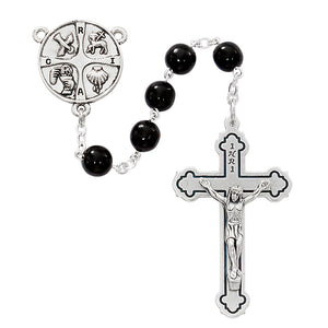 Black Glass RCIA Rosary