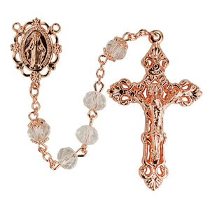 Rose Gold Crystal Rosary